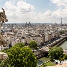 eurotrip wakacje w europie stolice Paryż widok z Katedry Notre Dame