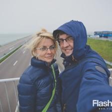 eurotrip wakacje w europie stolice Amsterdam Holandia Afsluitdijk - grobla odgradzająca morze