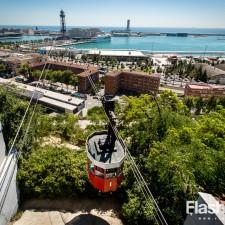 eurotrip wakacje w europie stolice Barcelona wjazd na górę montjuic
