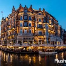 eurotrip wakacje w europie stolice Amsterdam nocą
