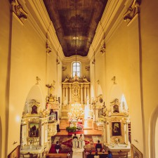 piękny kościół widok z churu