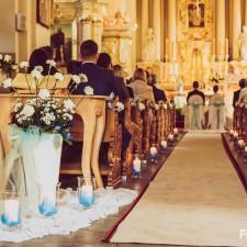 piękny kościół przystrojenie kościoła na ślub